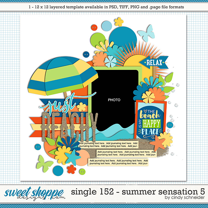 Cindy's Layered Templates - Single 152: Summer Sensations 5 by Cindy Schneider