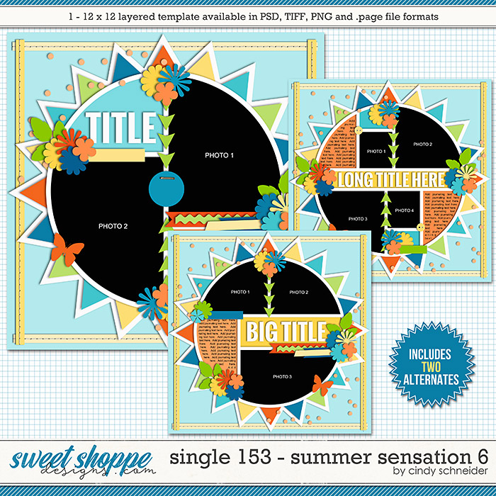 Cindy's Layered Templates - Single 153: Summer Sensations 6 by Cindy Schneider