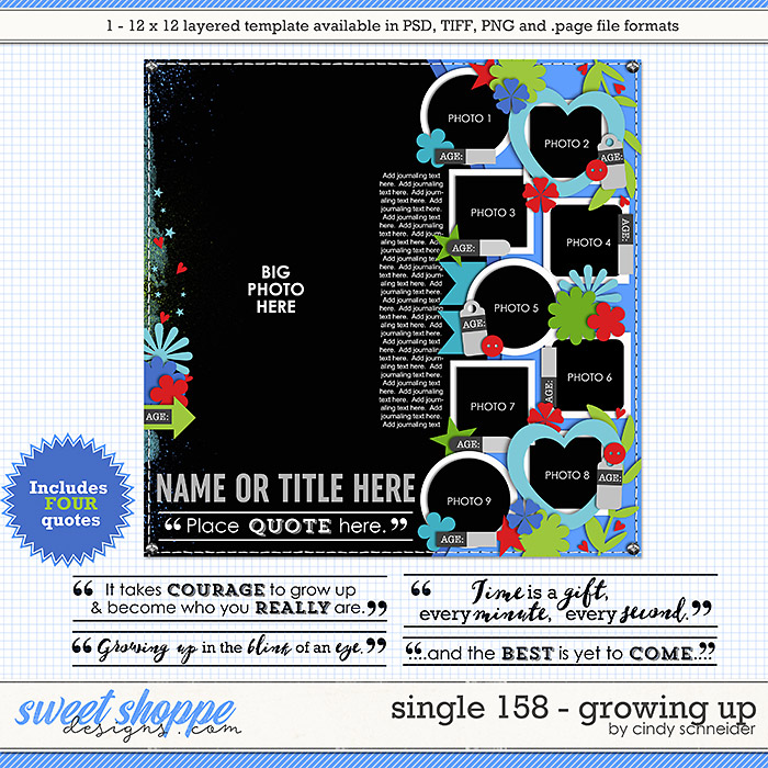 Cindy's Layered Templates - Single 158: Growing Up by Cindy Schneider