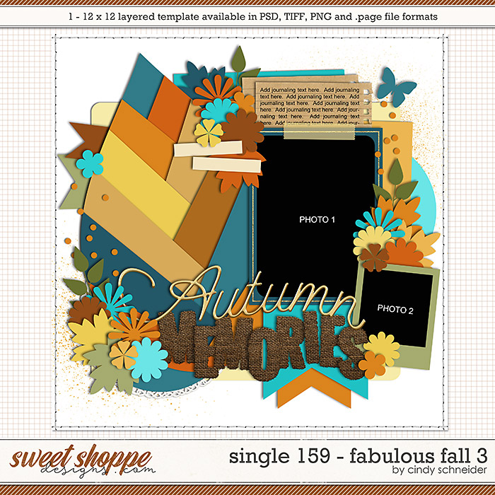 Cindy's Layered Templates - Single 159: Fabulous Fall 3 by Cindy Schneider
