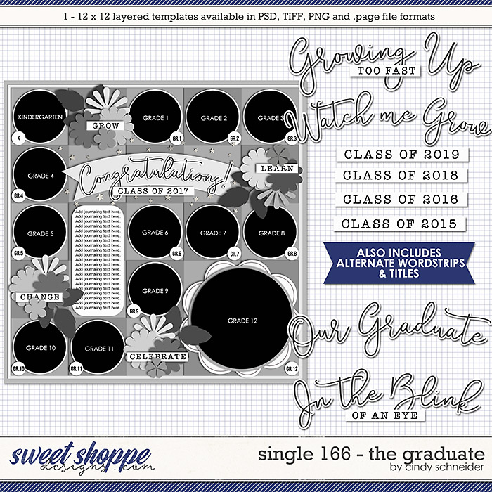 Cindy's Layered Templates - Single 166: The Graduate by Cindy Schneider