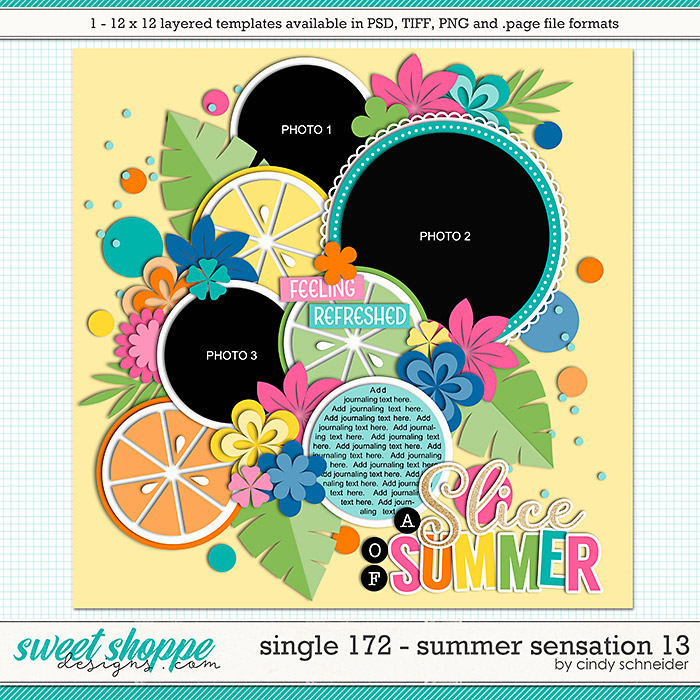 Cindy's Layered Templates - Single 172: Summer Sensation 13 by Cindy Schneider