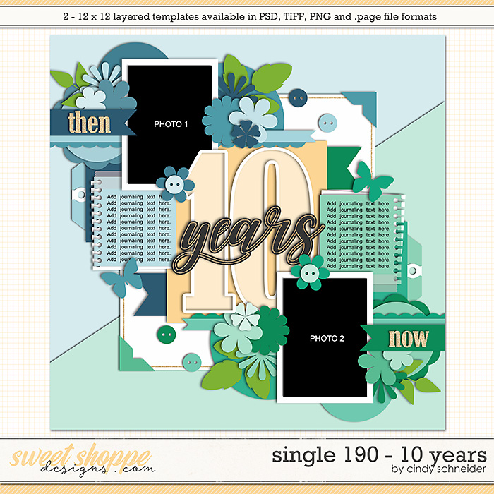 Cindy's Layered Templates - Single 190: 10 Years by Cindy Schneider