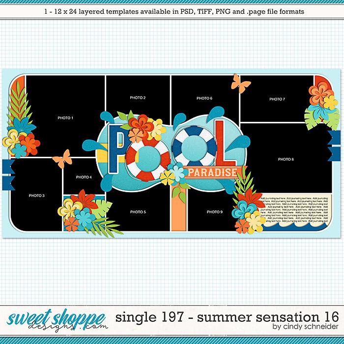 Cindy's Layered Templates - Single 197: Summer Sensation 16 by Cindy Schneider