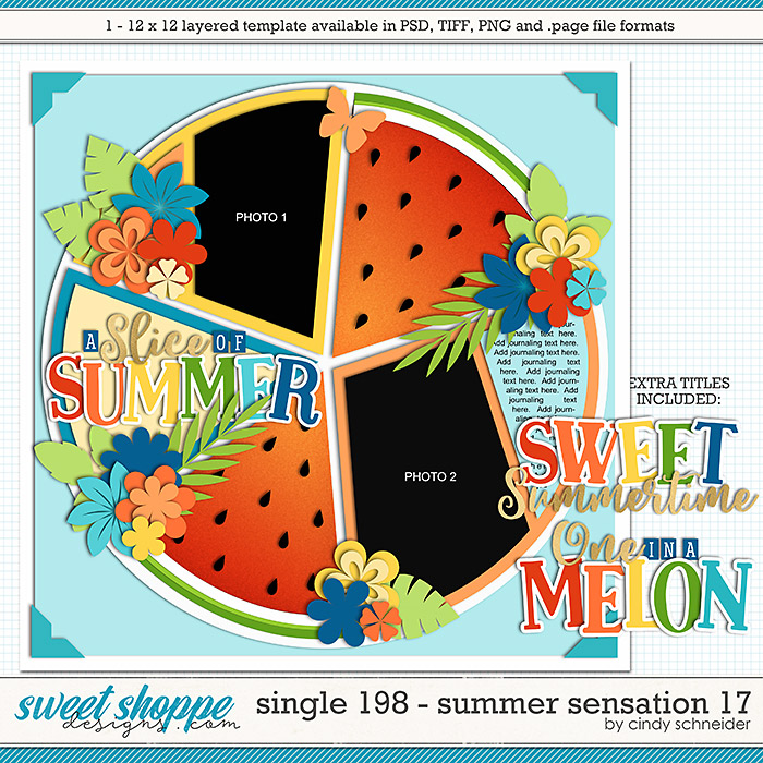 Cindy's Layered Templates - Single 198: Summer Sensation 17 by Cindy Schneider