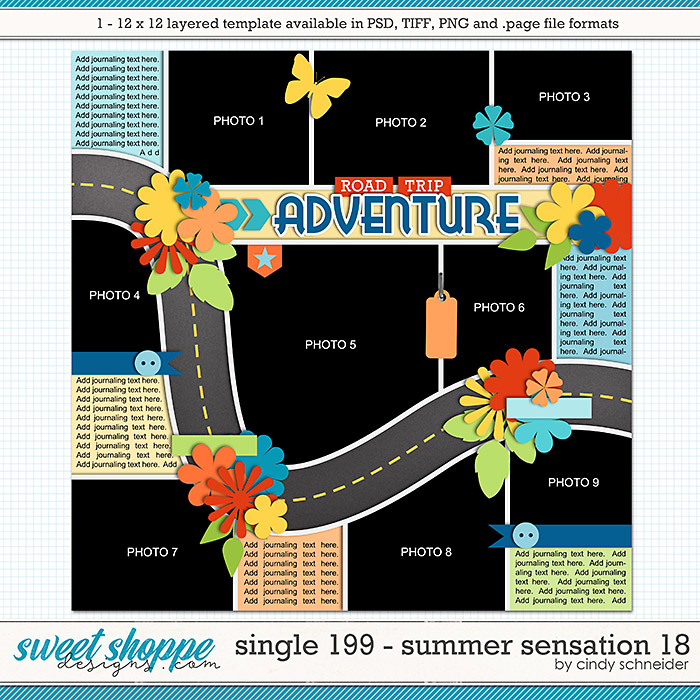 Cindy's Layered Templates - Single 199: Summer Sensation 18 by Cindy Schneider