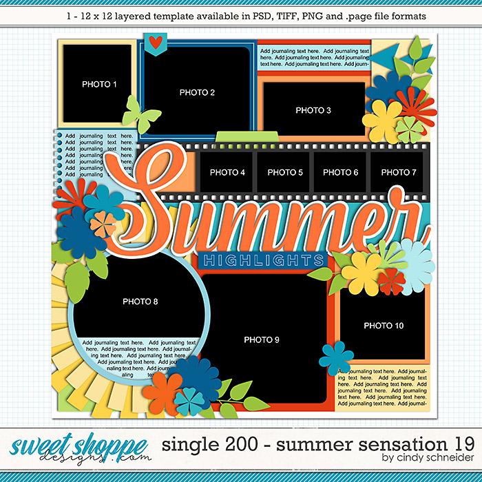 Cindy's Layered Templates - Single 200: Summer Sensation 19 by Cindy Schneider