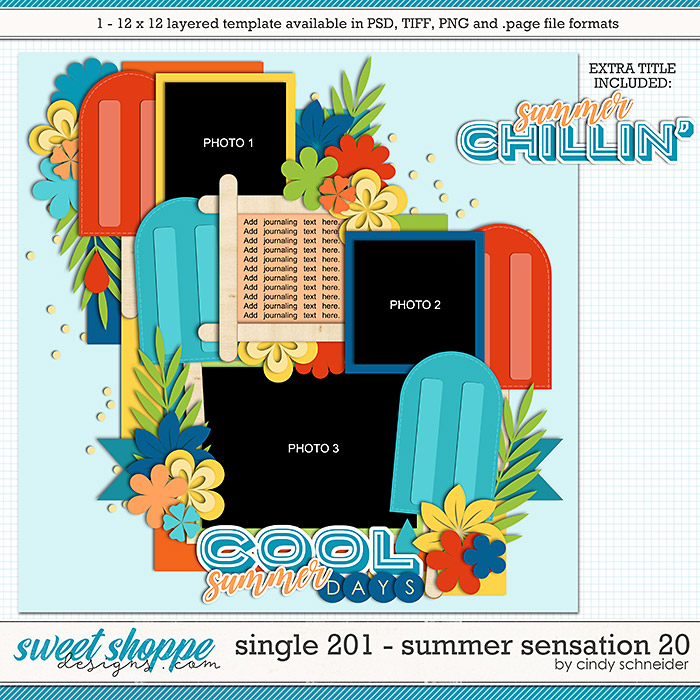 Cindy's Layered Templates - Single 201: Summer Sensation 20 by Cindy Schneider