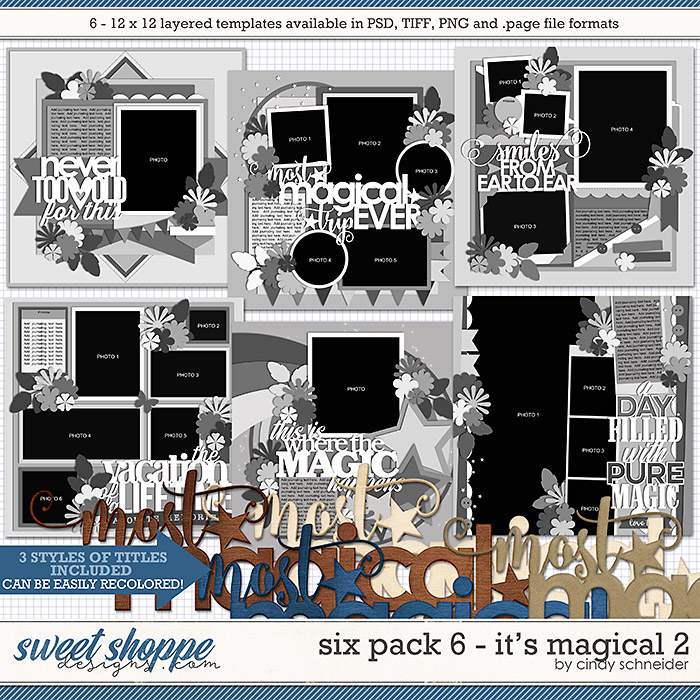 Cindy's Layered Templates - Six Pack 6: It's Magical 2 by Cindy Schneider