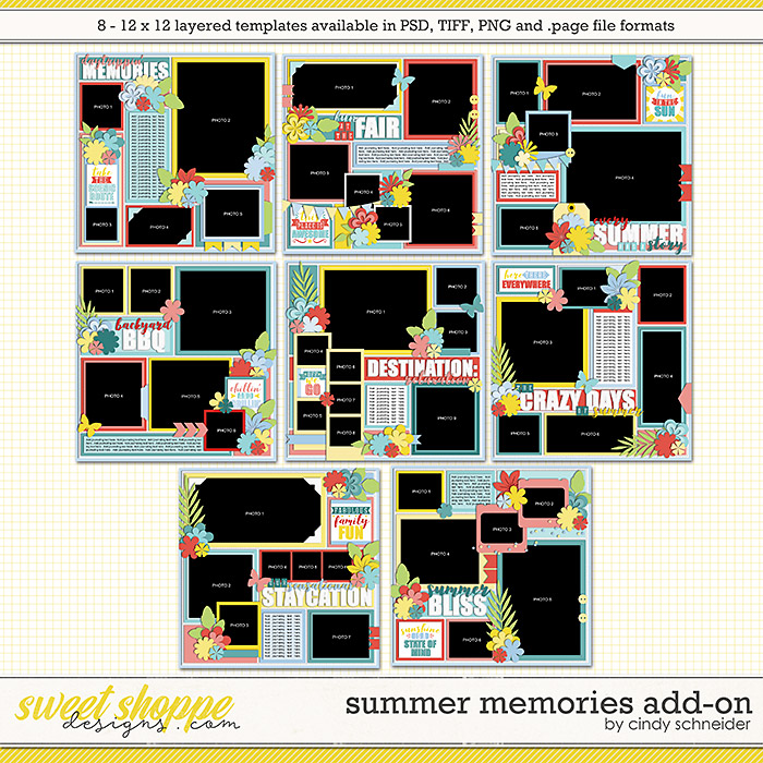 Cindy's Layered Templates - Summer Memories Add-On by Cindy Schneider
