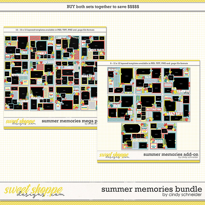 Cindy's Layered Templates - Summer Memories Bundle by Cindy Schneider