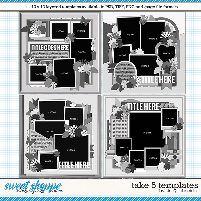 Cindy's Layered Templates - Take Five by Cindy Schneider