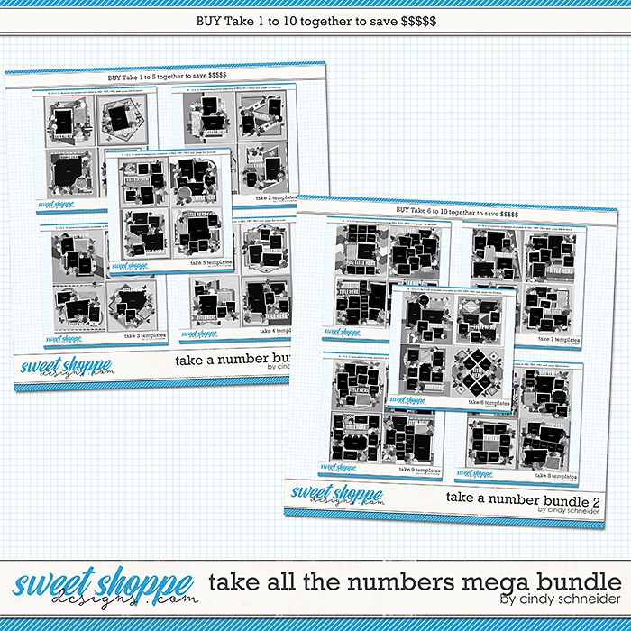 Take All The Numbers Mega Bundle by Cindy Schneider
