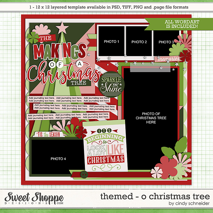 Cindy's Templates - Themed: O Christmas Tree by Cindy Schneider