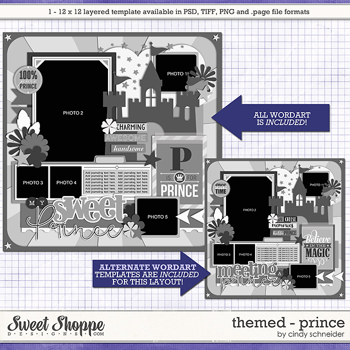 Cindy's Layered Templates - Themed: Prince by Cindy Schneider