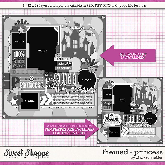 Cindy's Layered Templates - Themed: Princess by Cindy Schneider
