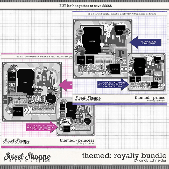 Cindy's Layered Templates - Themed: Royalty Bundle by Cindy Schneider