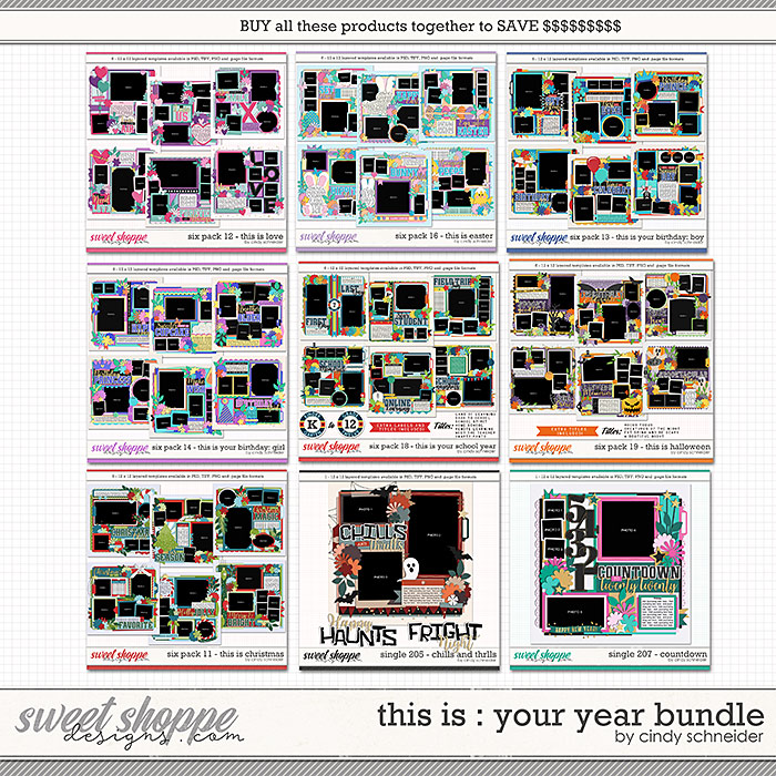 Cindy's Layered Templates - This is: Your Year Bundle by Cindy Schneider