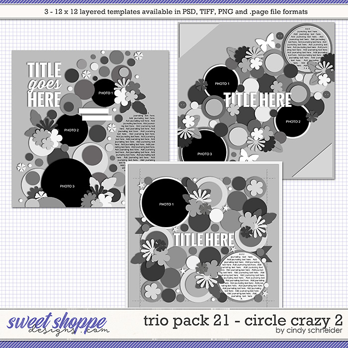Cindy's Layered Templates - Trio Pack 21: Circle Crazy 2 by Cindy Schneider