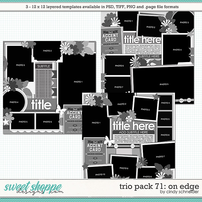Cindy's Layered Templates - Trio Pack 71: On Edge by Cindy Schneider