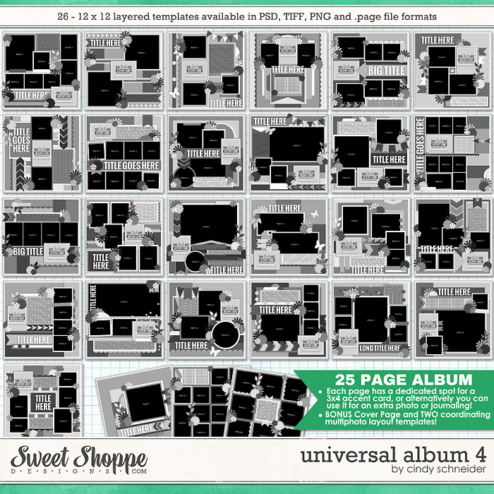 Cindy's Layered Templates - Universal Album 4 by Cindy Schneider