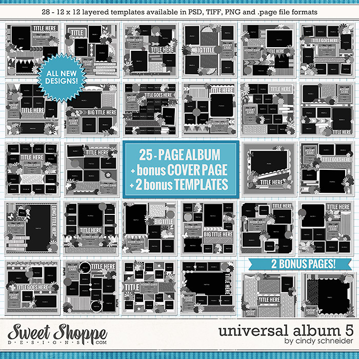 Cindy's Layered Templates: Universal Album 5 by Cindy Schneider