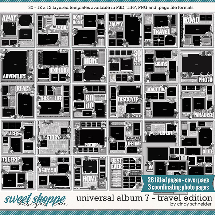 Cindy's Layered Templates - Universal Album 7: Travel Edition by Cindy Schneider