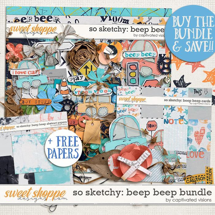 So Sketchy: Beep Beep Bundle & *FWP* by Captivated Visions