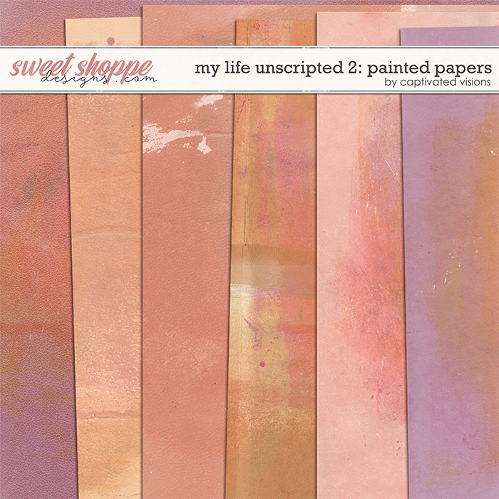 My Life Unscripted 2: Painted Papers by Captivated Visions