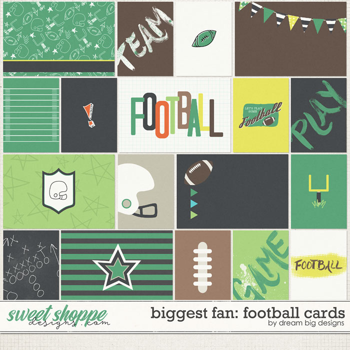 Biggest Fan: Football Cards by Dream Big Designs