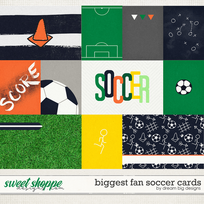 Biggest Fan Soccer Cards by Dream Big Designs