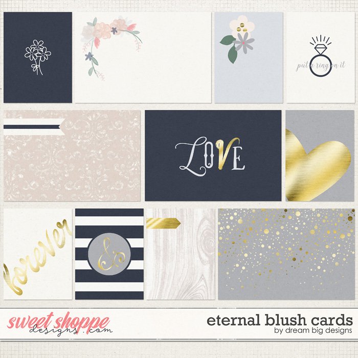 Eternal Blush Cards by Dream Big Designs