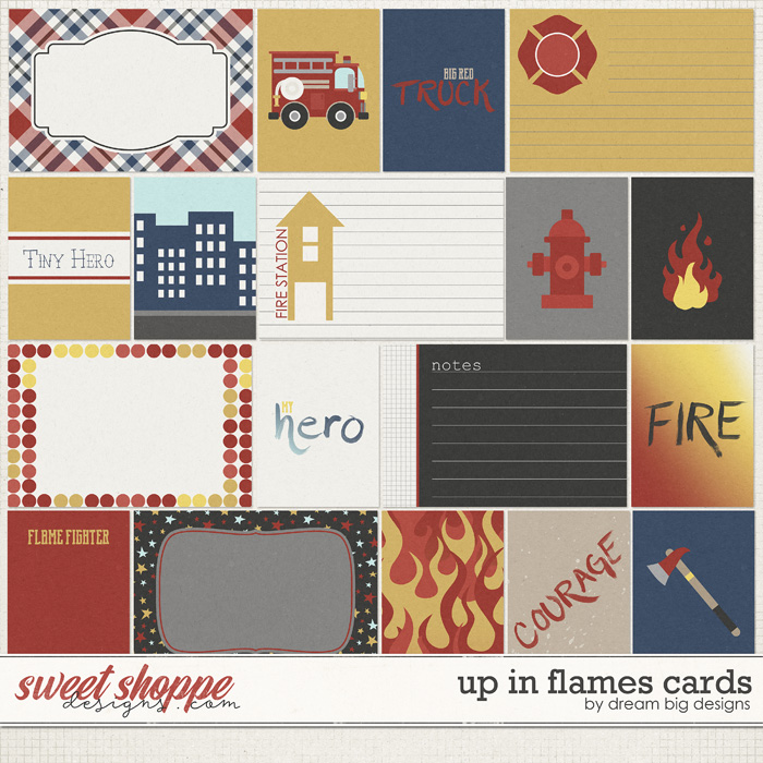 Up in Flames Cards by Dream Big Designs
