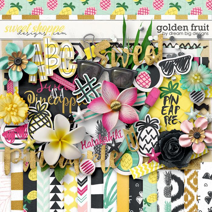 Golden Fruit by Dream Big Designs
