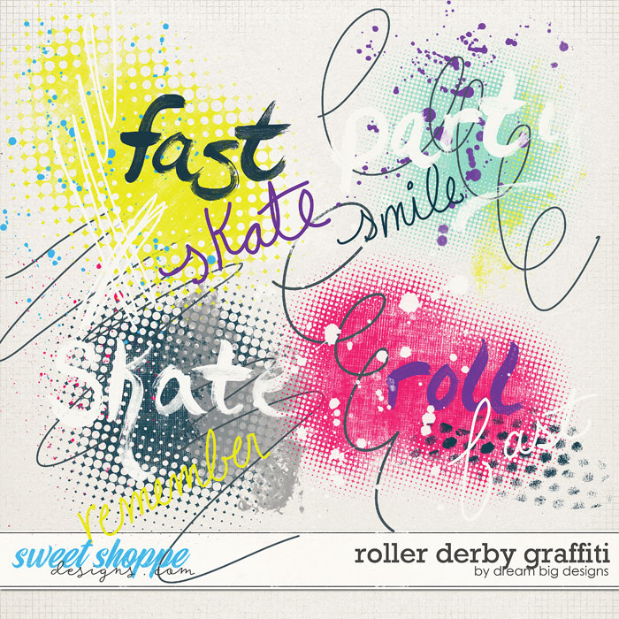Roller Derby Graffiti by Dream Big Designs