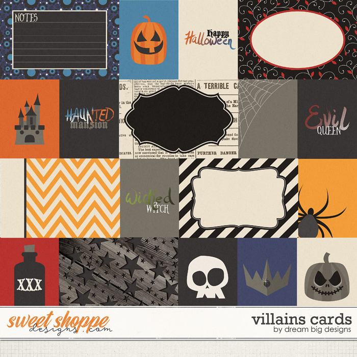 Villains Cards by Dream Big Designs