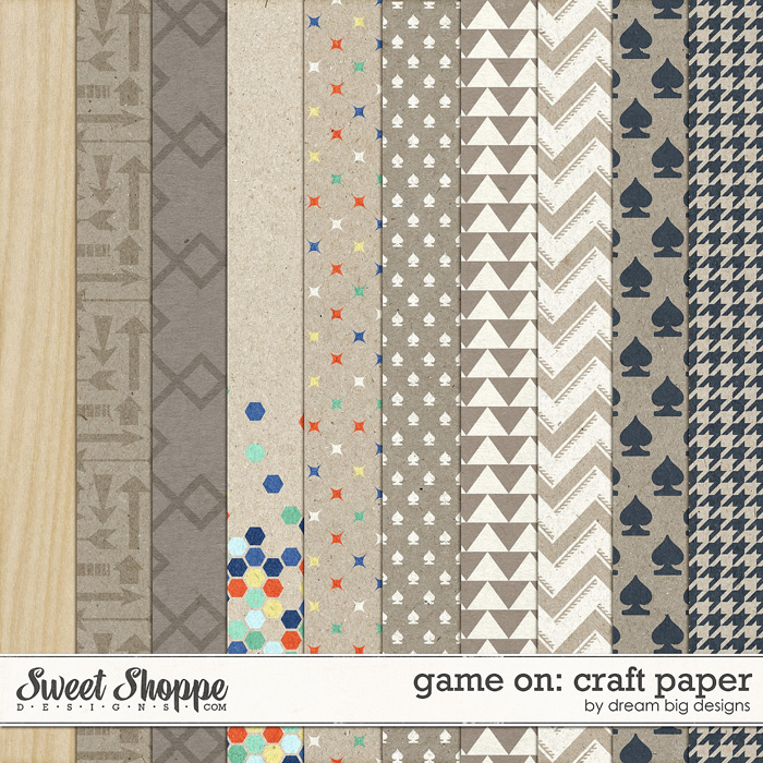 Game On: Craft Paper by Dream Big Designs