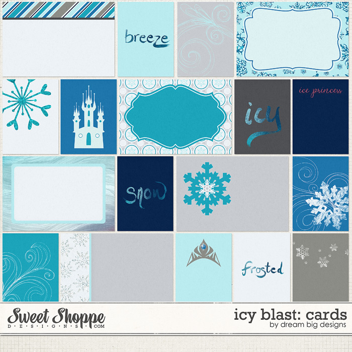 Icy Blast: Cards by Dream Big Designs