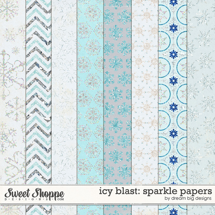 Icy Blast: Sparkle Papers by Dream Big Designs