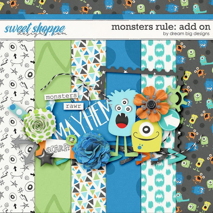 Monsters Rule: Add On by Dream Big Designs