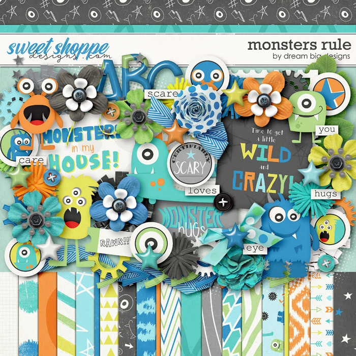 Monsters Rule by Dream Big Designs