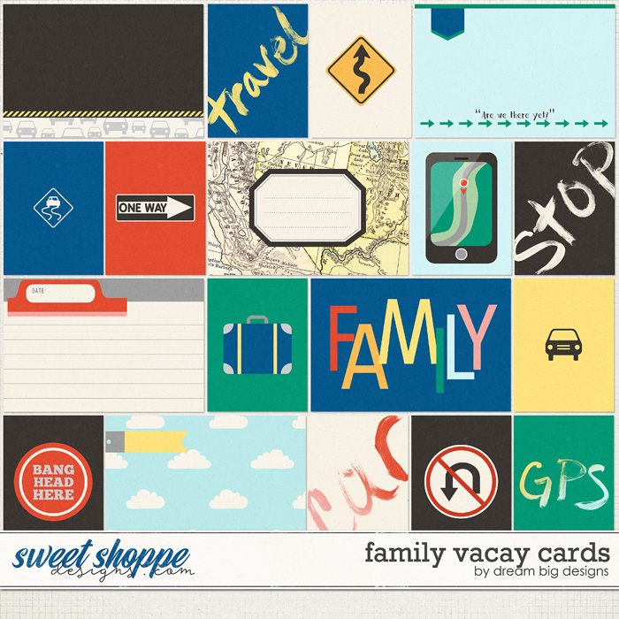 Family Vacay Cards by Dream Big Designs