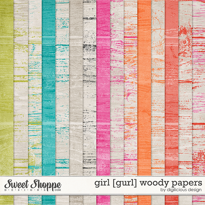 Girl Woody Papers by Digilicious Design