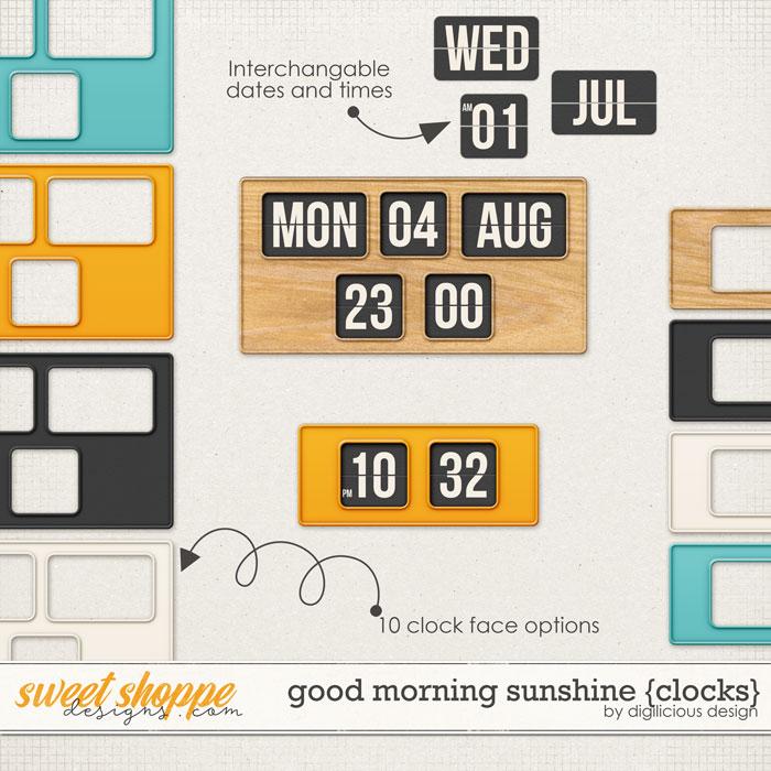 Good Morning Sunshine {Clocks} by Digilicious Design