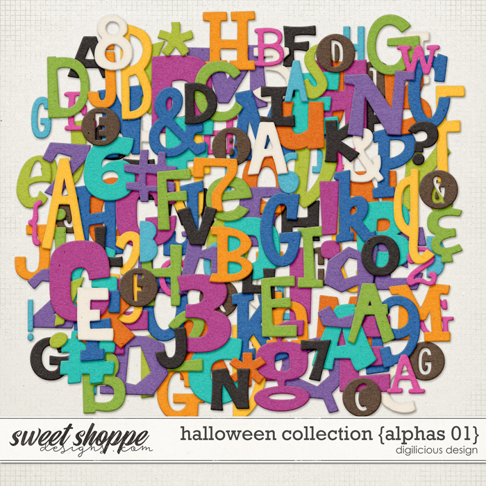 Halloween Collection {Alpha 01} by Digilicious Design