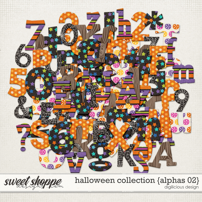 Halloween Collection {Alpha 02} by Digilicious Design