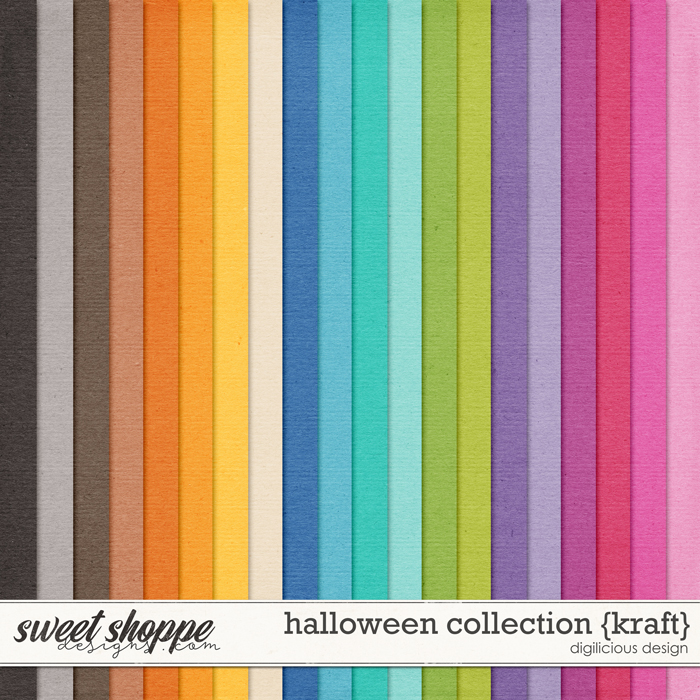 Halloween Collection {Kraft} by Digilicious Design