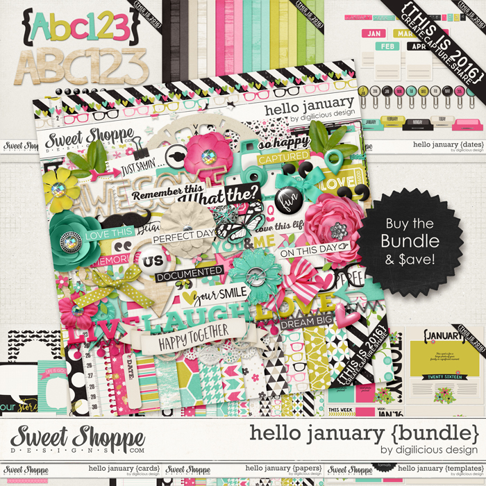 Hello January {Bundle} by Digilicious Design