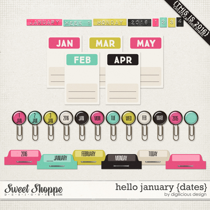 Hello January {Dates} by Digilicious Design