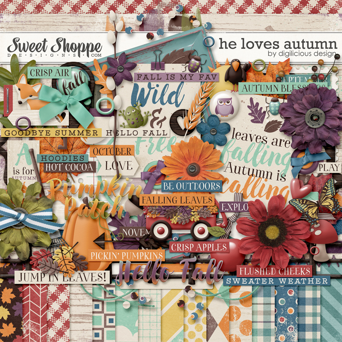 He Loves Autumn {Kit} by Digilicious Design